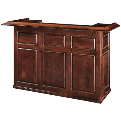 Bar with Wine Storage Color: Chestnut