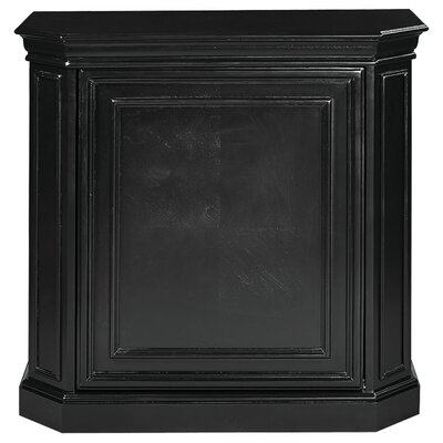 Bar Cabinet with Spindle Color: Black
