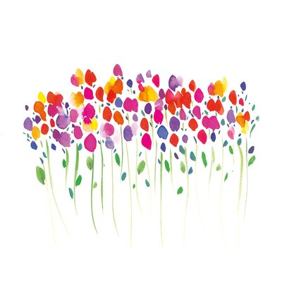Art Group Vibrant Floral by Summer Thornton Canvas Wall Art