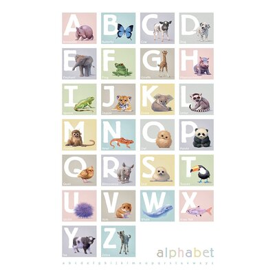 Art Group Alphabet Boxes by John Butler Collage Canvas Wall Art