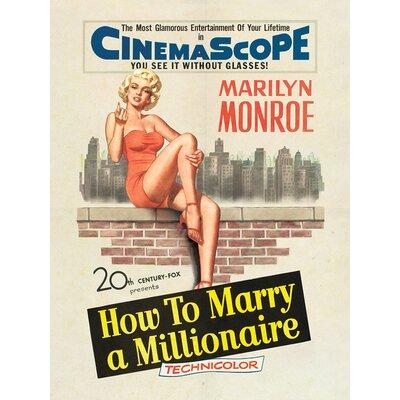 Art Group Marilyn Monroe Millionaire Vintage Advertisement Canvas Wall Art