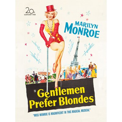 Art Group Marilyn Monroe Gentlemen Prefer Blondes Vintage Advertisement on Canvas