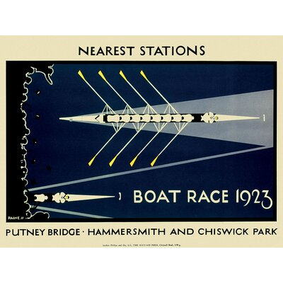 Art Group Boat Race 1923 by Transport for London Vintage Advertisement Canvas Wall Art