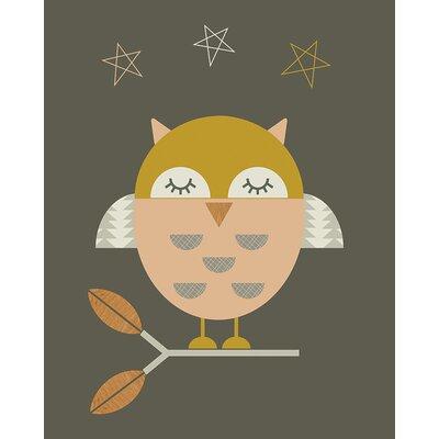 Art Group Little Owl by Little Design Haus Graphic Art on Canvas