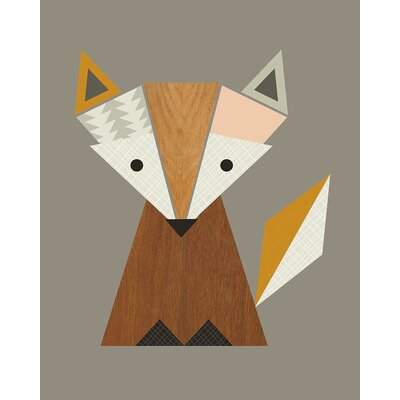 Art Group Geometric Fox by Little Design Haus Graphic Art on Canvas