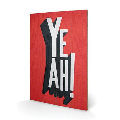 Art Group Yeah by Edu Barba Typography Plaque