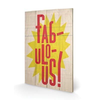 Art Group Fabulous by Edu Barba Typography Plaque