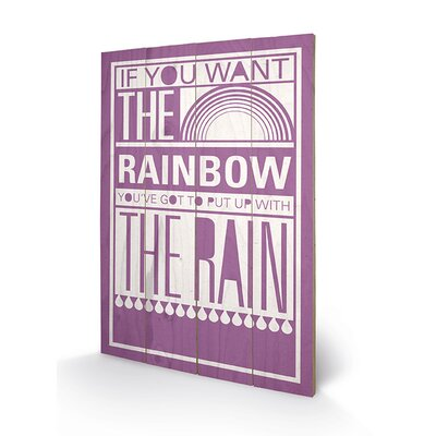 Art Group Rainbow by Sarah Winter Typography Plaque