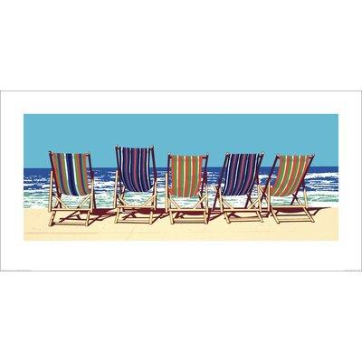 Art Group Five Deckchairs by Jonathan Sanders Graphic Art