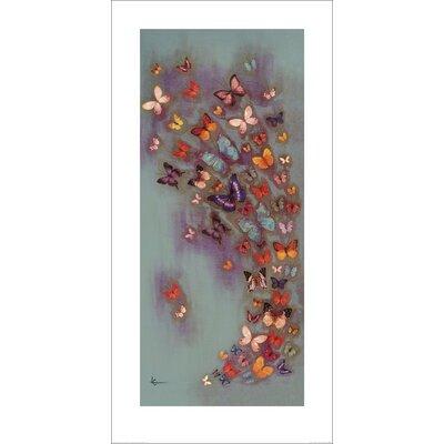 Art Group Mottled Aubergine by Lily Greenwood Art Print