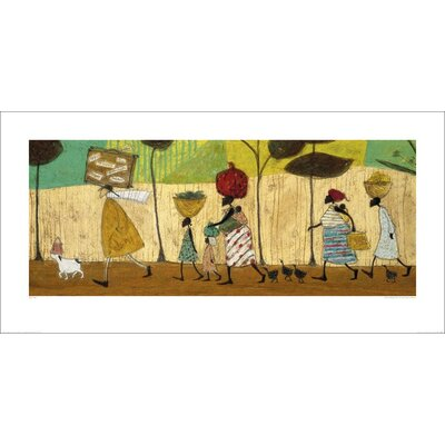 Art Group Doris Helps Out on the Trip to Mzuzu by Sam Toft Art Print