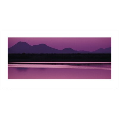 Art Group Silhouette of Mountains at Dusk Photographic Print