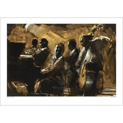 Art Group Blues on Gold by Charlie Mackesy Art Print