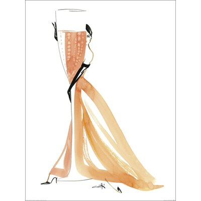 Art Group Champagne Rose by Michel Canetti Art Print