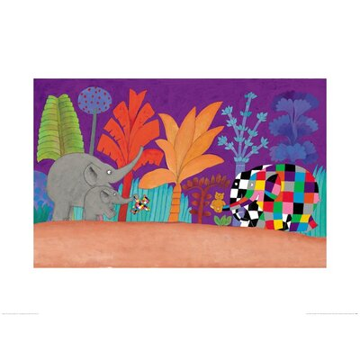 Art Group Elmer, Wilber and Teddy by David McKee Art Print