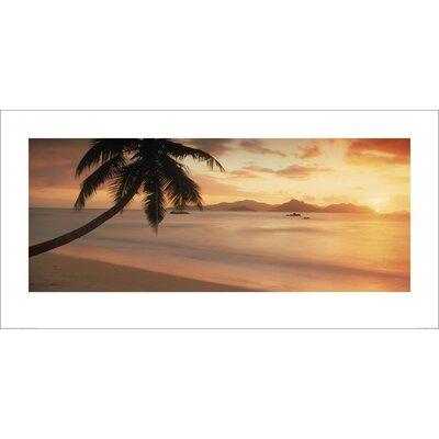 Art Group Beach Sunset Photographic Print