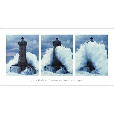 Art Group Phare Du Four, Bretagne Triptych by Jean Guichard Graphic Art