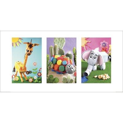 Art Group Giraffe, Tortoise, Elephant by Howard Shooter and Lauren Floodgate Graphic Art