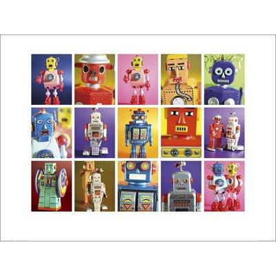 Art Group Robot Metropolis by Howard Shooter and Lauren Floodgate Graphic Art