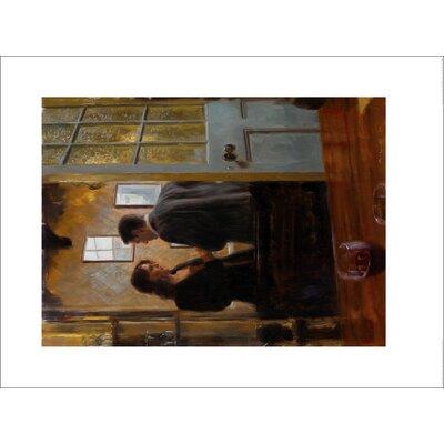 Art Group Conversation in The Lounge Bar by Aldo Balding Art Print