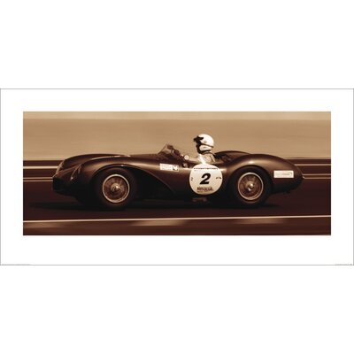 Art Group The First Corner Aston Martin DB3S 1955 by Ben Wood Photographic Print