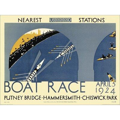 Art Group Transport for London - Boat Race Vintage Advertisement