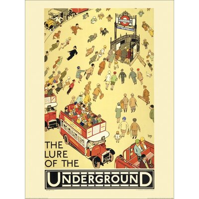 Art Group Transport for London - The Lure of the Underground Vintage Advertisement