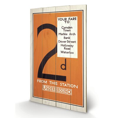 """Art Group London Transport """"12"""" Vintage Advertisement Plaque"""