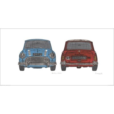 Art Group Blue Mini Red Mini by Barry Goodman Graphic Art