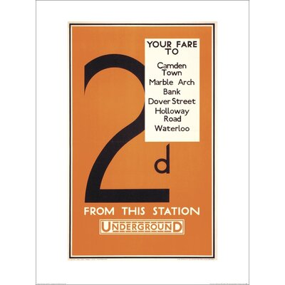 Art Group Transport for London - 2d Your Fare to Camden Town Typography