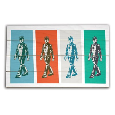 Art Group Doctor Who Walking Cyberman Graphic Art Plaque
