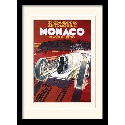 "Art Group Monaco ""1"" Mounted Framed Vintage Advertisement"