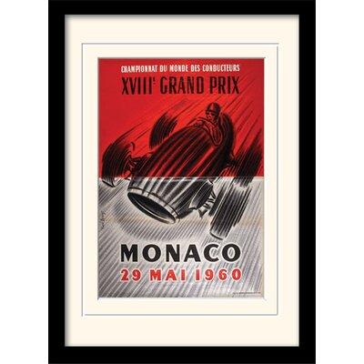 "Art Group Monaco ""2"" Mounted Framed Vintage Advertisement"