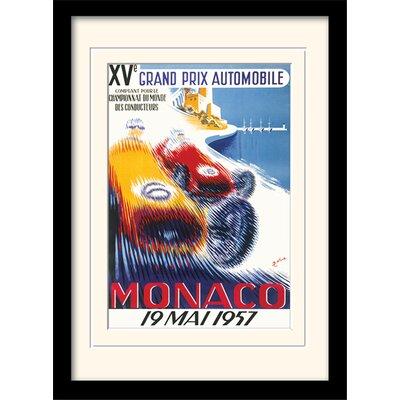 "Art Group Monaco ""6"" Mounted Framed Vintage Advertisement"
