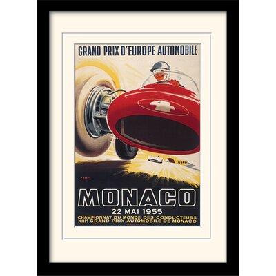 "Art Group Monaco ""7"" Mounted Framed Vintage Advertisement"