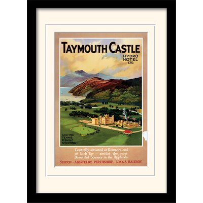 Art Group Taymouth Castle Mounted Framed Vintage Advertisement