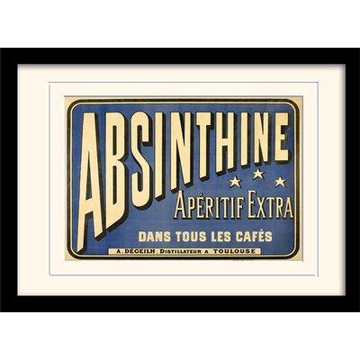 Art Group Absinthe Aperitif Framed Typography