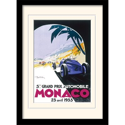 "Art Group Monaco ""8"" Mounted Framed Vintage Advertisement"