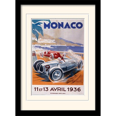 "Art Group Monaco ""9"" Mounted Framed Vintage Advertisement"