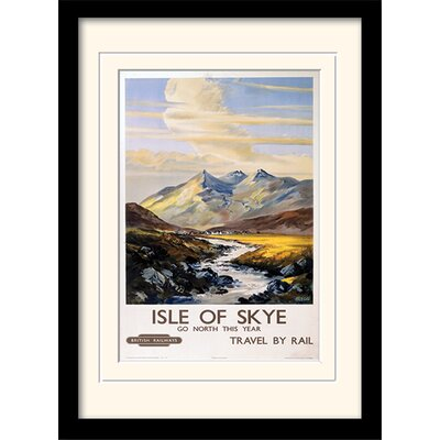 "Art Group Isle of Skye ""1"" Framed Vintage Advertisement"
