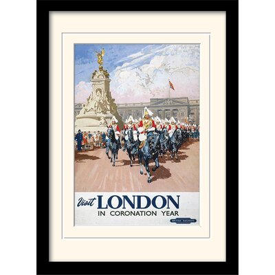 "Art Group London ""6"" Mounted Framed Vintage Advertisement"
