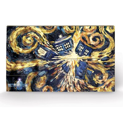 Art Group Doctor Who Exploding Tardis Graphic Art Plaque