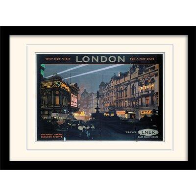 "Art Group London ""8"" Mounted Framed Vintage Advertisement"