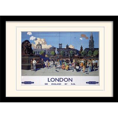 "Art Group London ""9"" Mounted Framed Vintage Advertisement"