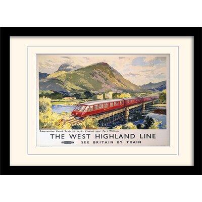 Art Group The West Highland Line Framed Vintage Advertisement