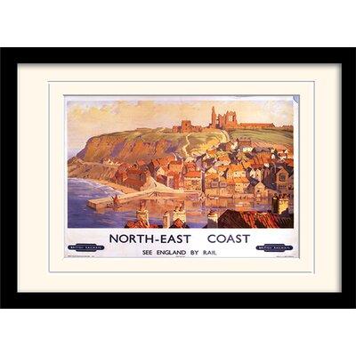 Art Group North East Coast Mounted Framed Vintage Advertisement