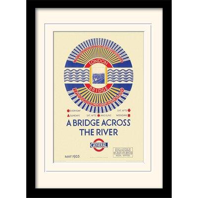 """Art Group London Transport """"4"""" Mounted Framed Vintage Advertisement"""