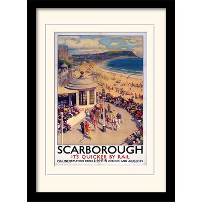 "Art Group Scarborough ""1"" Mounted Framed Vintage Advertisement"