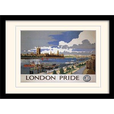 "Art Group London ""11"" Mounted Framed Graphic Art"