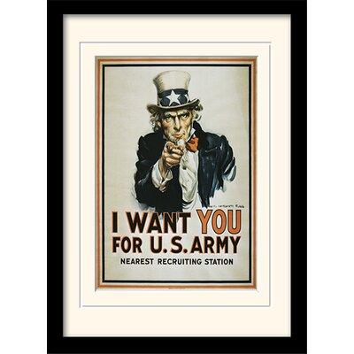 Art Group Uncle Sam - I Want You Framed Graphic Art